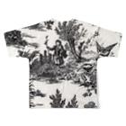 J. Jeffery Print Galleryのトワルドジュイ Toile de Jouy Full graphic T-shirtsの背面