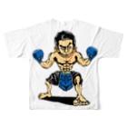 ASB boxingclub SHOPの ASBスタッフ「タムタム」アイテム フルグラフィックTシャツ