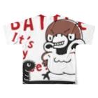 *suzuriDeMONYAAT*のCT166 スズメがちゅん*BATTLEちゅん Full Graphic T-Shirtの背面