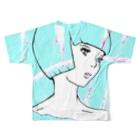 LAHのショートカットフルグラフィックTシャツ