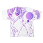 [ E+ ] SHOPのFull moon loveフルグラフィックTシャツ