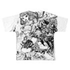 Studio MOONの飛行少女 Full graphic T-shirtsの背面