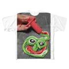 めかぶの指先堂のCRAYPEPE Full graphic T-shirts