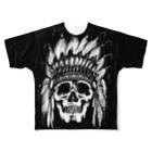 The Loving TreeのIndian Skull Face フルグラフィックTシャツ