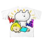 ななみんお店の勝ってうれしいうさぎ Full graphic T-shirts