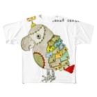 ねこぜや のROBOBO 福ちゃんロボ Full graphic T-shirts