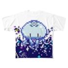 ばすてのドッド絵ミズクラゲ Full graphic T-shirts