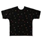 Y. CRESTの【No Asejimi】花柄 warm-BK Full graphic T-shirts