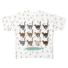 豆つぶのTabbies Cat(集合/肉球ver) Full Graphic T-Shirt