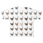 豆つぶのTabbies Cat(総柄) Full graphic T-shirts