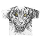 uwotomoの【虎】金目 Full graphic T-shirts