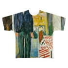 Art Baseのムンク / 1943 / Self-portrait. Between the clock and the bed / Edvard Munch Full graphic T-shirts