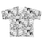 舞/カラスミコフ珍味ちゃん@竜飛岬のフルグラアイコン Full graphic T-shirts