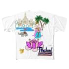 uwotomoの【THAILAND】蓮と踊り子DX Full graphic T-shirts