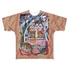 プリン先輩のお店の交通事故ニャ♪ Full graphic T-shirts