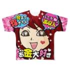 バニラde高収入ショップ[SUZURI店]の【両面フルグラ】FULL♥VANILLA(バニ子) Full graphic T-shirts