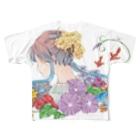 オリジナル雑貨店『ホットドッグ』のなつフルグラ Full graphic T-shirts