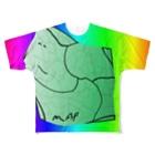 水草のMAPたん3 Full graphic T-shirts