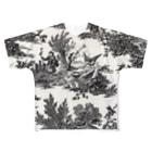 J. Jeffery Print Galleryのトワルドジュイ Toile de Jouy Full graphic T-shirts