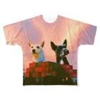 krmfrnの進撃のシバウザー Full graphic T-shirts
