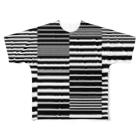 銀鈴堂(ミッドナイトクラブ)のボーダー Full graphic T-shirts
