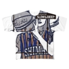 SLOW in the DEEPのSHIMANE Basketball CLUB Full graphic T-shirts