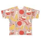 ソーメンズのかわうそとばななとりんご Full Graphic T-Shirt