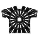 左の幾何学模様 series Full graphic T-shirts