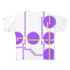 気まぐれshop 【ta-ma】のドッドライン Full graphic T-shirts