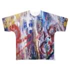 道化絵師Mine 公式グッズの化 Full graphic T-shirts