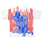 3050円のレオパードガール Full graphic T-shirts