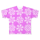 レオナのGenerative Arcs(Pink) Full graphic T-shirts