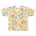 Illustrator イシグロフミカの動物たちとフルーツ Full graphic T-shirts