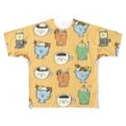 ゴキゲンサンショップの純喫茶 Full graphic T-shirts