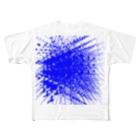 あめ猫の店の青1 Full graphic T-shirts