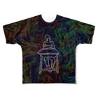 ビル川のはくちゅーむくん Full graphic T-shirts