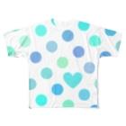 姫ONE工房のドットinハート① Full graphic T-shirts