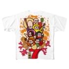 太画子の七福神 Full graphic T-shirts