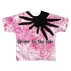 タツキミックス!の蜘蛛は味方 Full graphic T-shirts