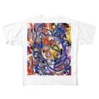 岡本なう - okamoto now -のド派手な生活応援グッズ Full graphic T-shirts