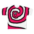 suta HOUSEの未確認生物ムンムン ぐるぐる Full graphic T-shirts