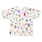 ヘロシナキャメラ売り場のわんぱくMIX フルグラフィックTシャツ