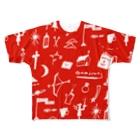 明季 aki_ishibashiの赤色のおまじない Full graphic T-shirts