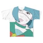 エビフライ屋さんのサブカル少女 Full graphic T-shirts