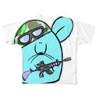 とてもえらい本店のでかでかミリタリー Full graphic T-shirts