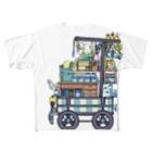 ろう飼い主のカラー荷車1 Full graphic T-shirts