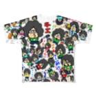 原専 総柄 フルグラフィックTシャツ