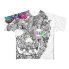 326(なかむらみつる)のスカルリボン Full Graphic T-Shirt
