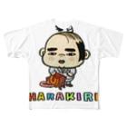 326(なかむらみつる)のハラキリ(字入り) Full graphic T-shirts