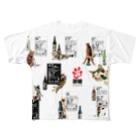 cheeの酔猫シリーズ Full graphic T-shirts